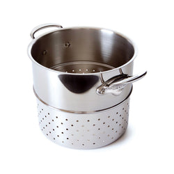 Mauviel Cook Style Pastaindsats blank stål - 24 cm