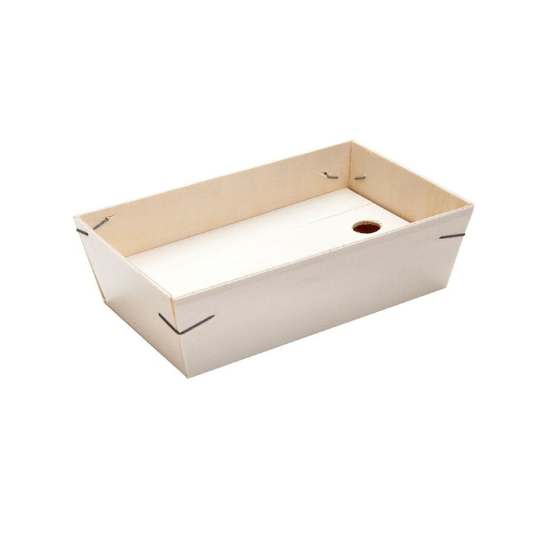 Trækasse til 1 eller ½ portion, 5 stk.  /  Wood Box For Portion Or 1/2 Portion 5 pcs.
