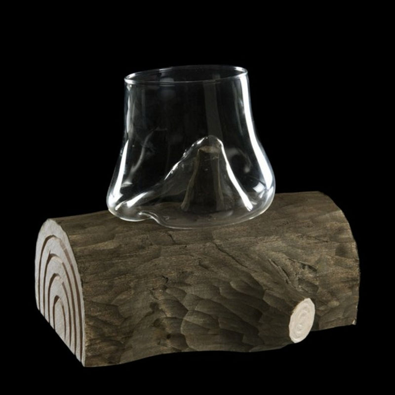 Wood trunk glass