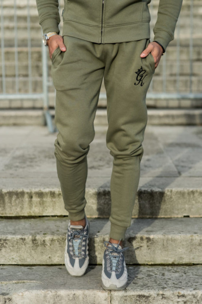 Gym King Tracksuit Joggers - Burnt Olive