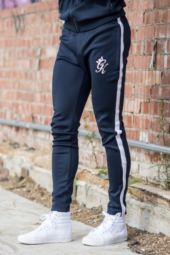 Gym King Poly Tapered Tracksuit Joggers - Navy