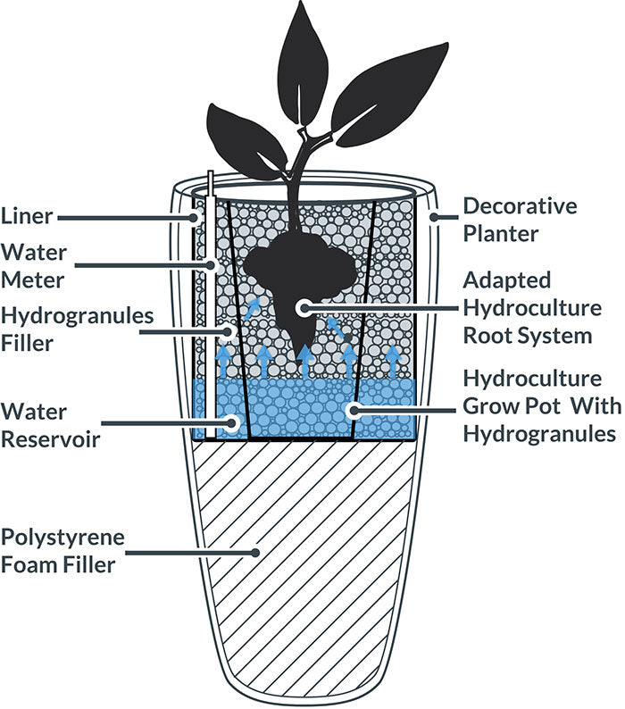 Hydroculture Indoor Planter
