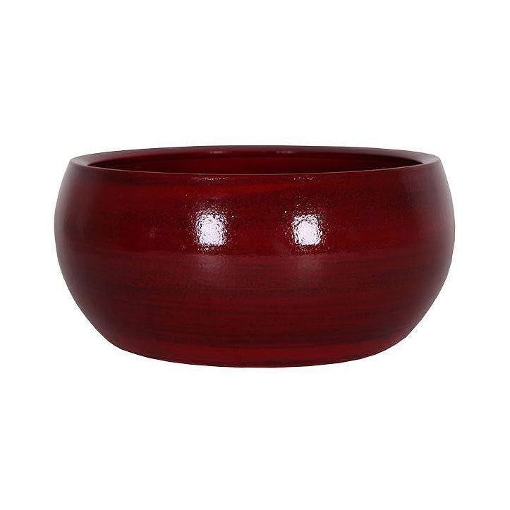 Cresta Plant Bowl - Deep Red 28 x 13cm