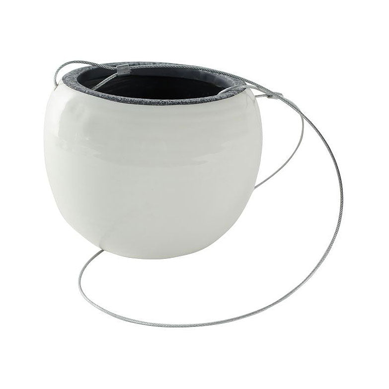 Flor Hanging Plant Pot - White