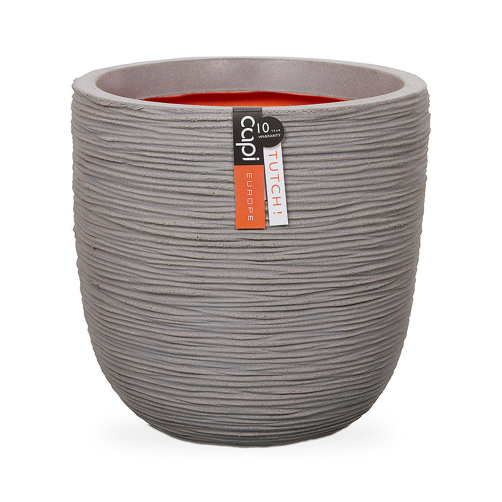 Capi Tutch Rib Egg Planter - Light Grey 35 x 34cm
