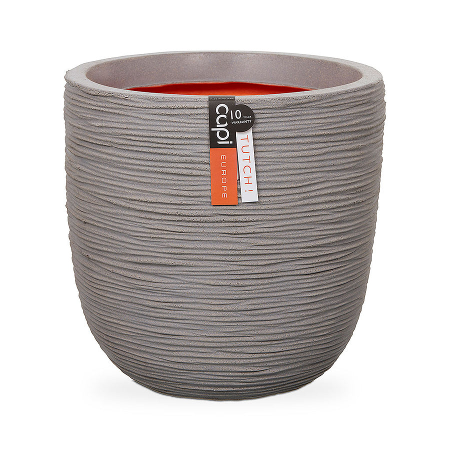 Capi Tutch Rib Egg Planter - Light Grey