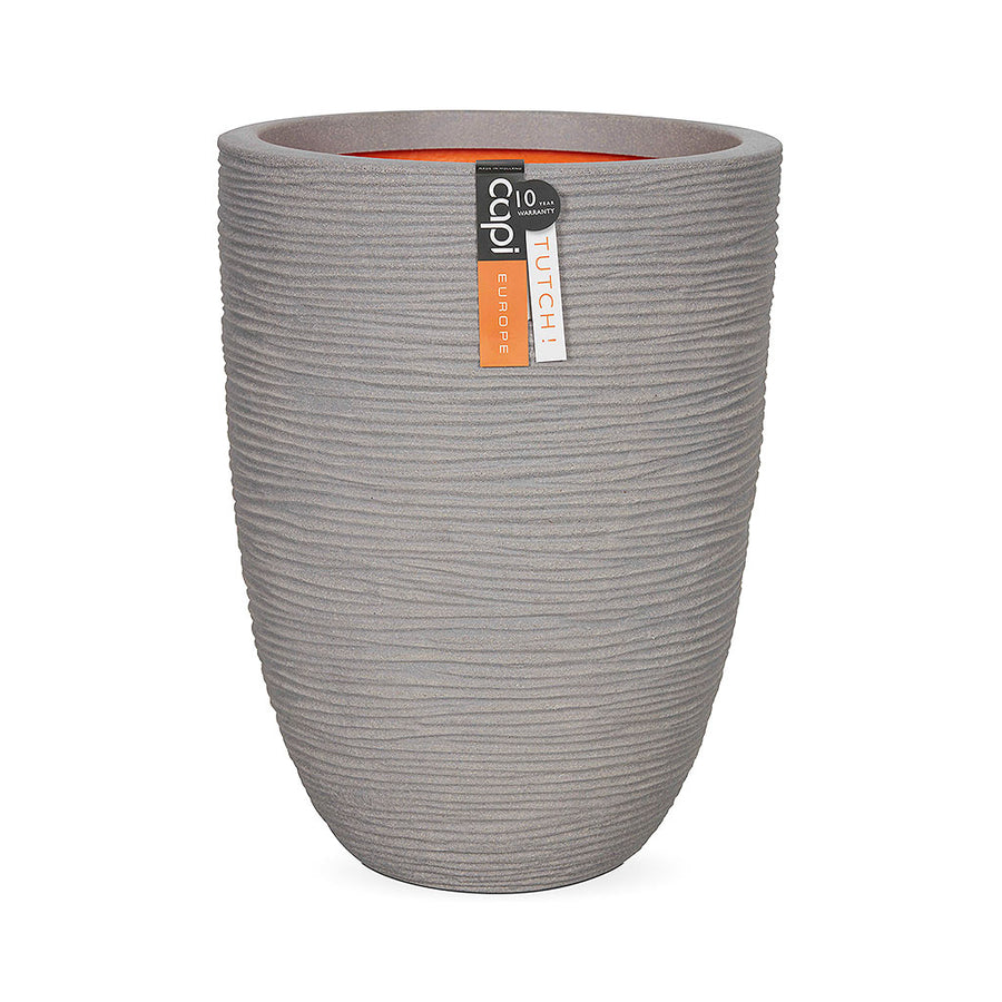 Capi Tutch Rib Plant Vase - Light Grey 35 x 47cm