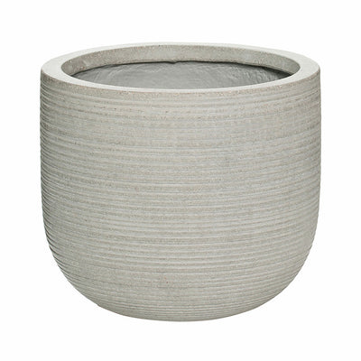 Dice Plant Pot - Ridged Cement 28 x 25cm