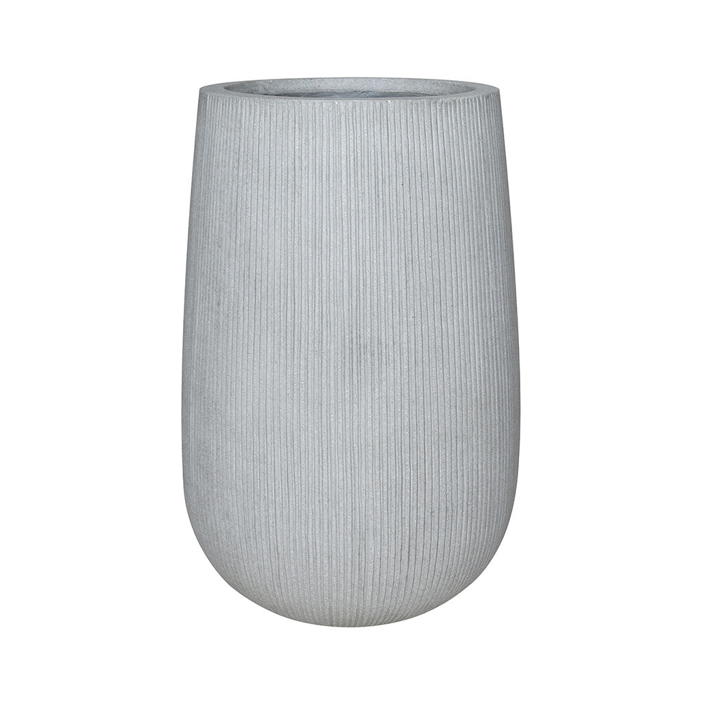 Patt High Plant Vase - Ridged Cement 29 x 43cm