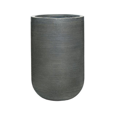 Cody Plant Vase - Ridged Dark Grey 35 x 55cm