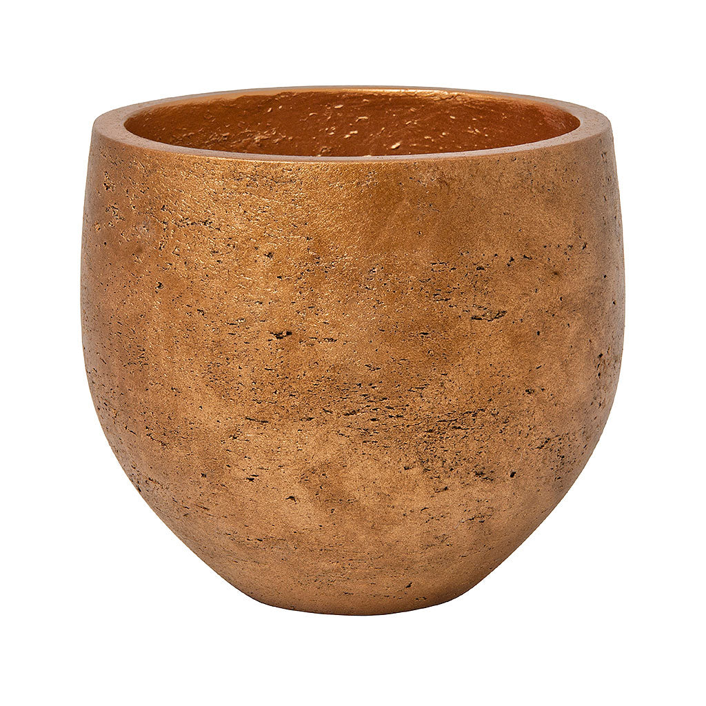 Mini Orb Kevan Plant Pot - Metallic Copper 18cm 25cm