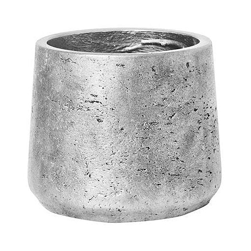 Patt Plant Pot - Metallic Silver 13.5