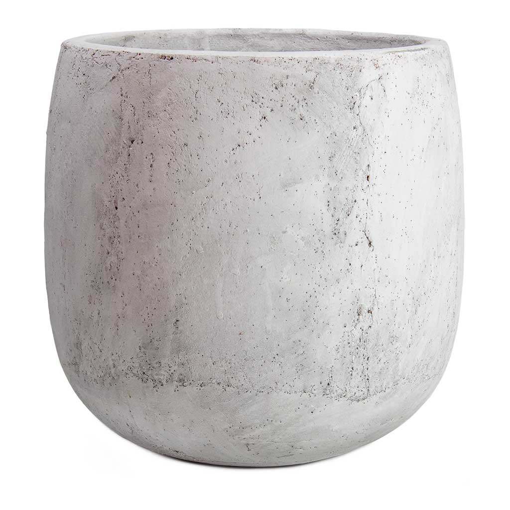Amber Plant Pot - Light Grey - Large