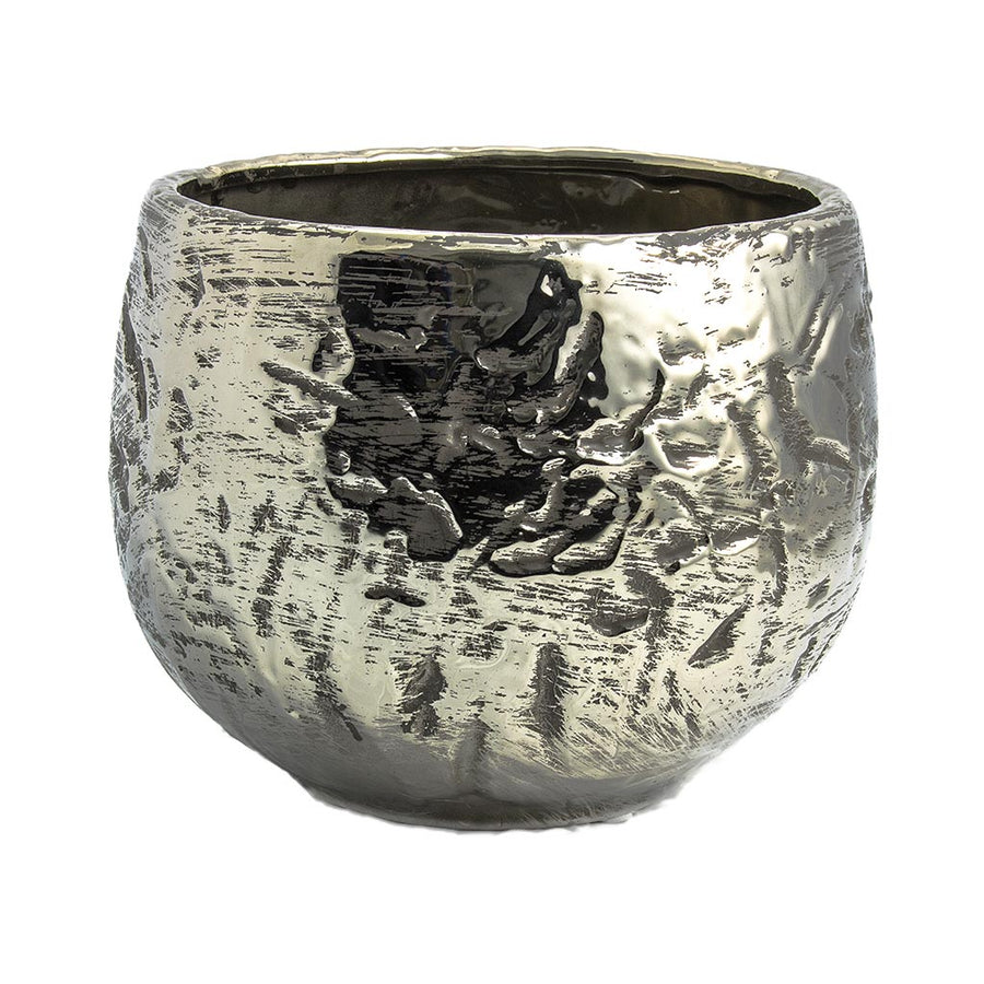 Ancient Chrome Plant Pot 18 x 13cm