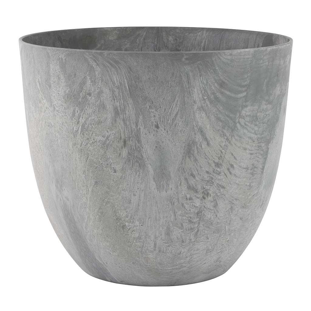 Bola Artstone Plant Pot - Grey - Small Medium
