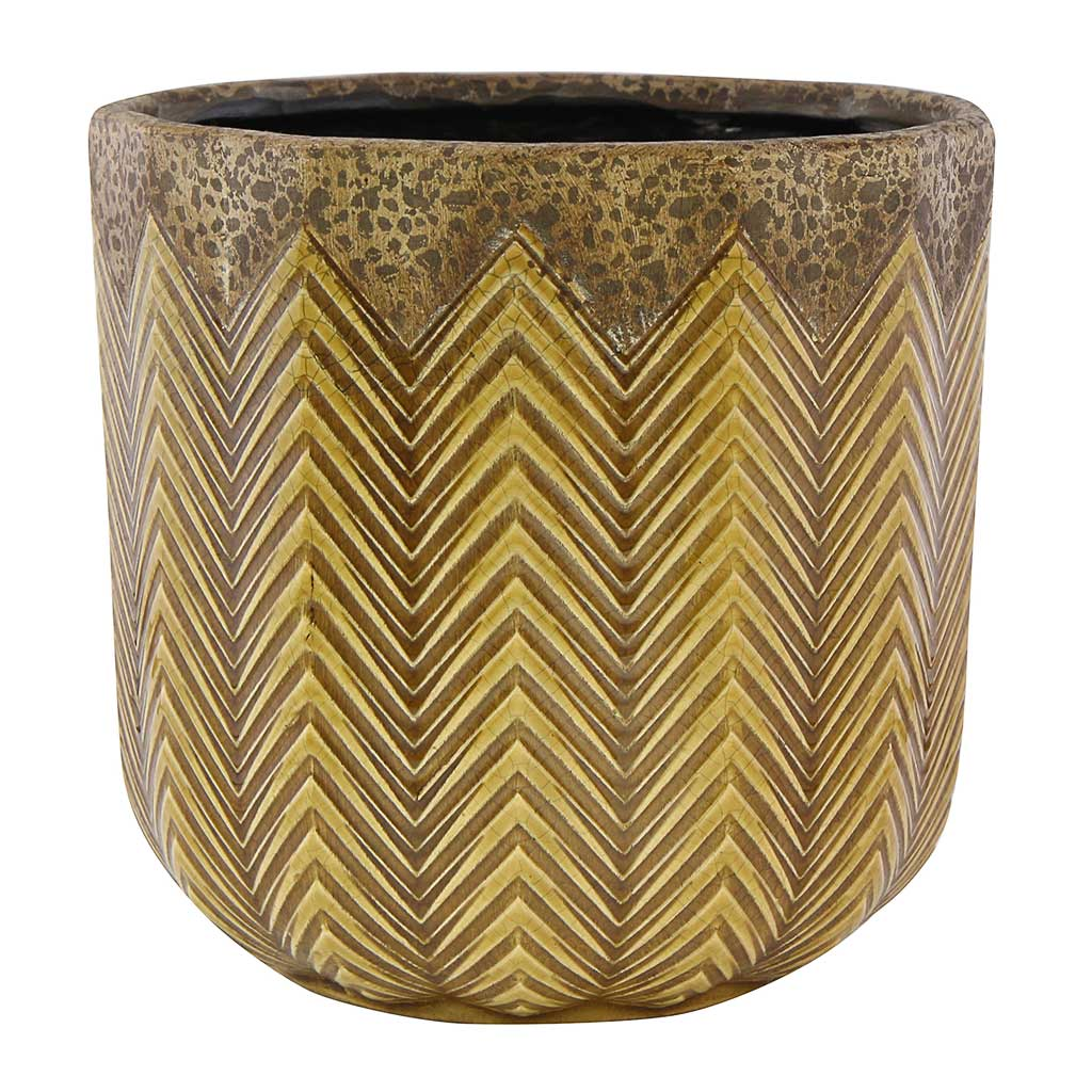 Cecil Plant Pot - Ochre - Medium Large