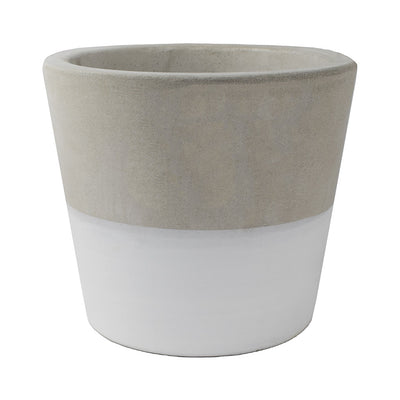 Cement Cacti Pot - White