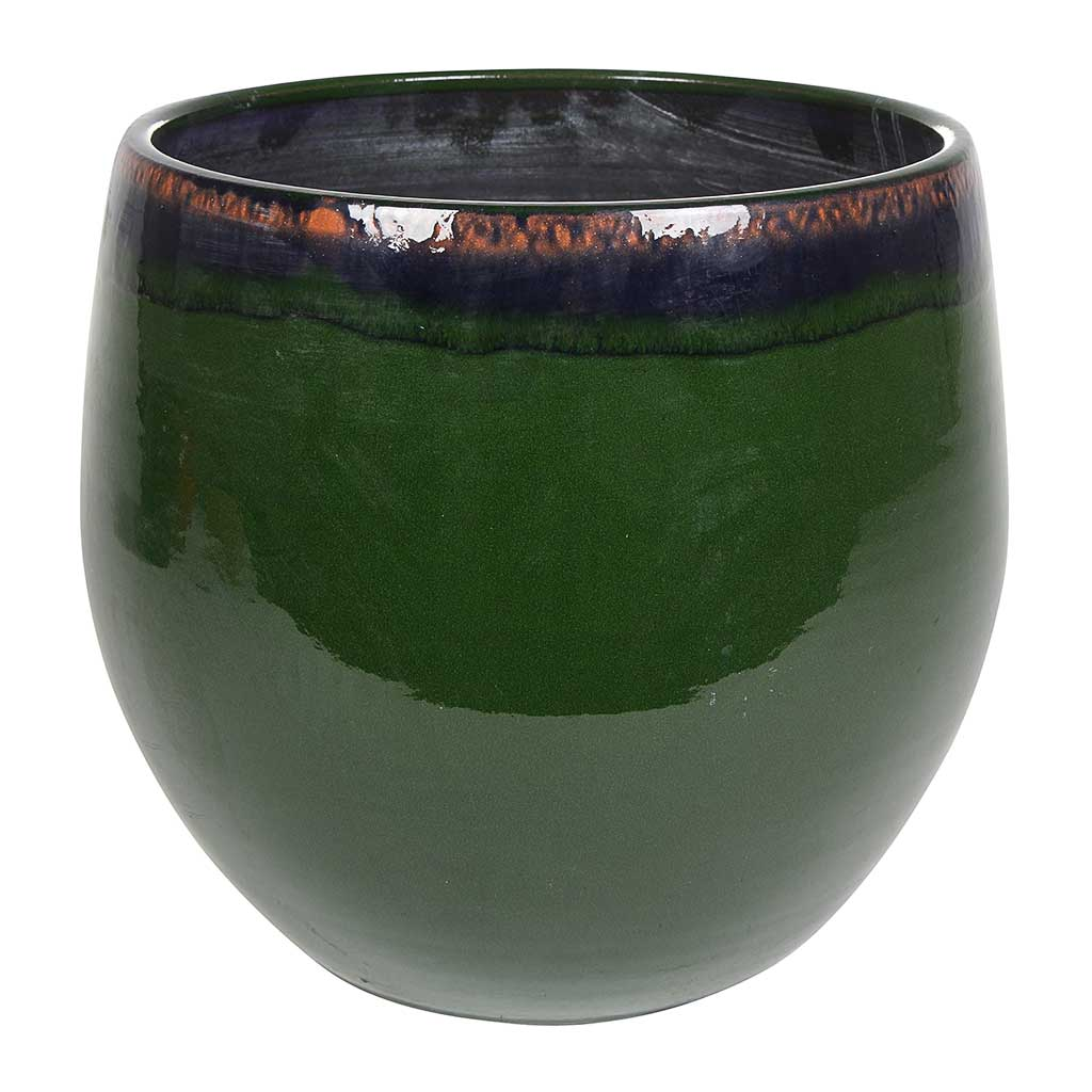 Charlotte Plant Pot - Green - Large