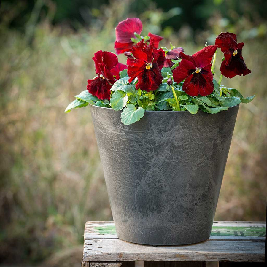 Claire Artstone Plant Pot - Grey - Outdoor Planter