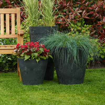 Claire Artstone Plant Pot - Black - Outdoor Planters
