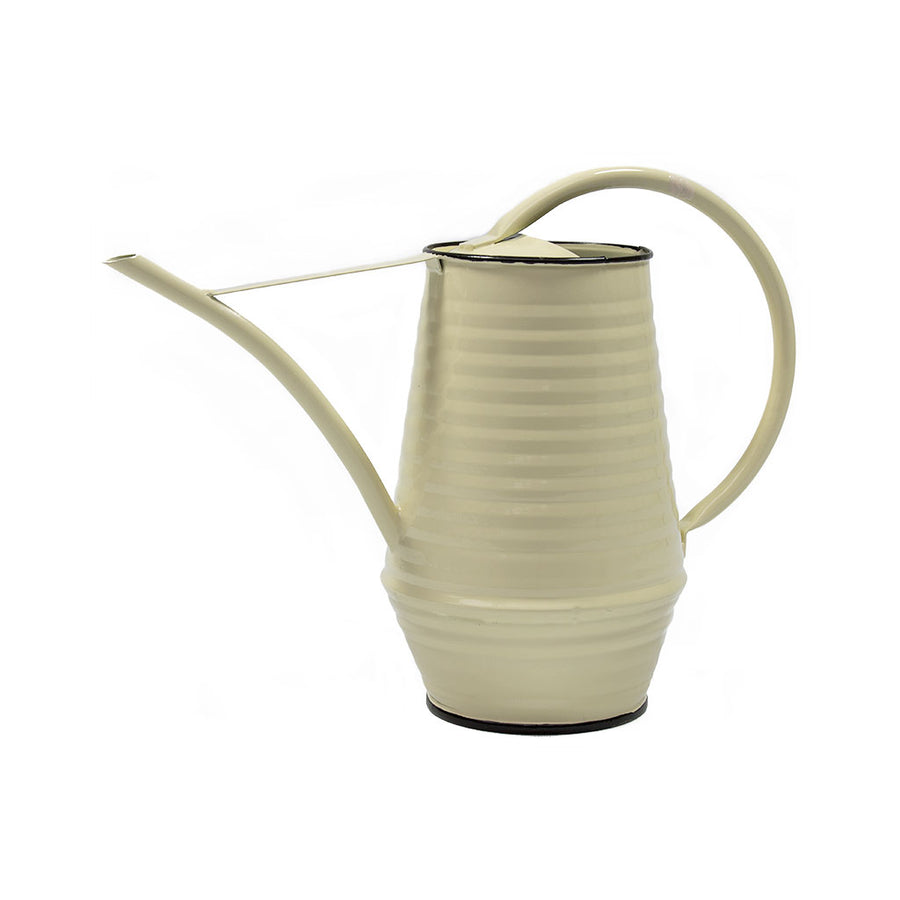 Coffee Pot Zinc Watering Can 0.9L - Cream