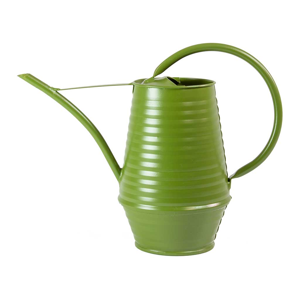 Coffee Pot Zinc Watering Can 0.9L - Apple Green