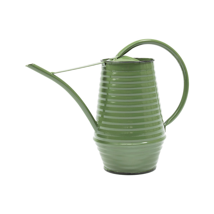 Coffee Pot Zinc Watering Can 0.9L - Green