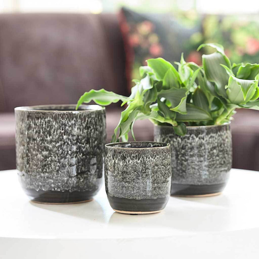 Daan Plant Pot - Black - Small