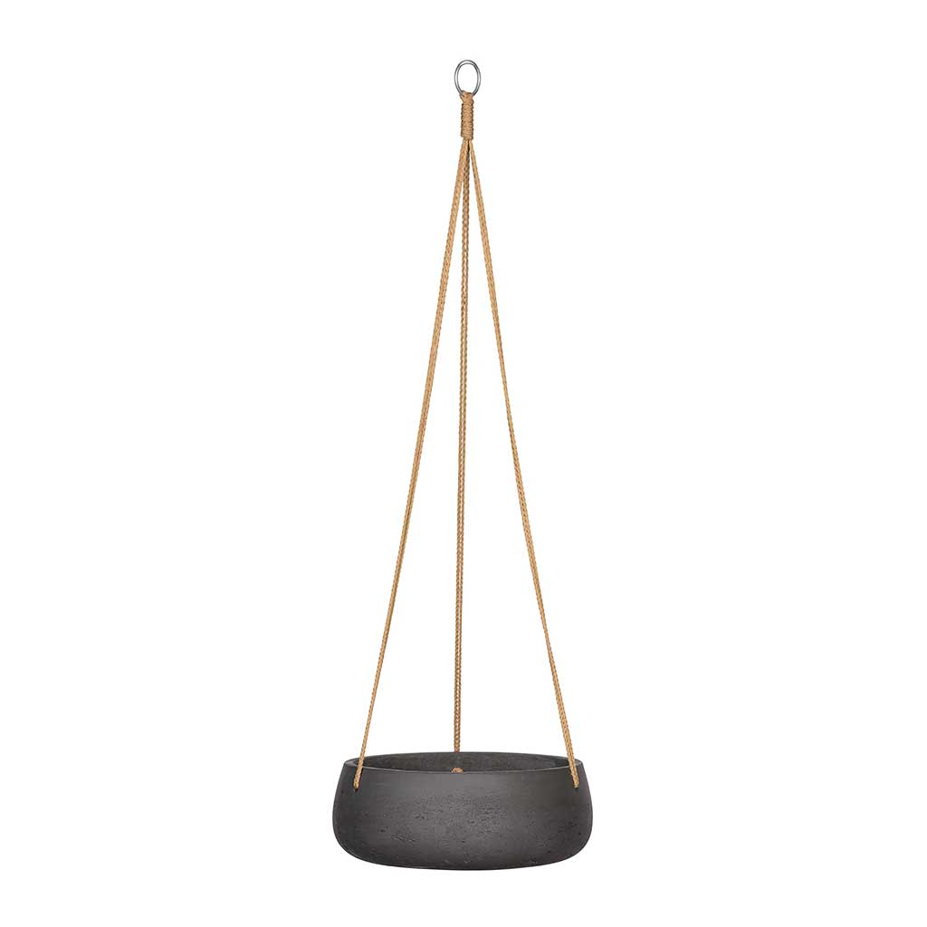 Eileen Hanging Plant Bowl - Black Washed