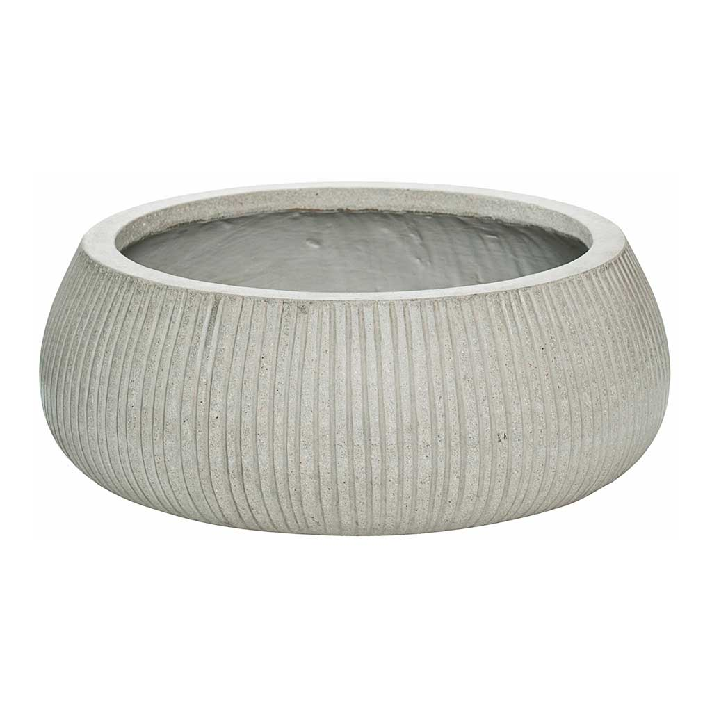 Eileen Plant Bowl Ridged Cement