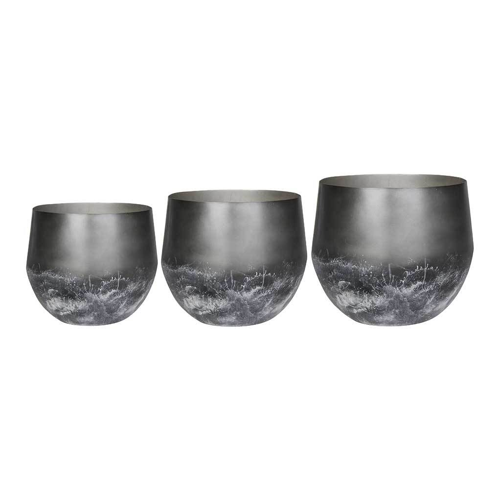 Elisa Metal Plant Pots - Set of 3 - Mystic Earth