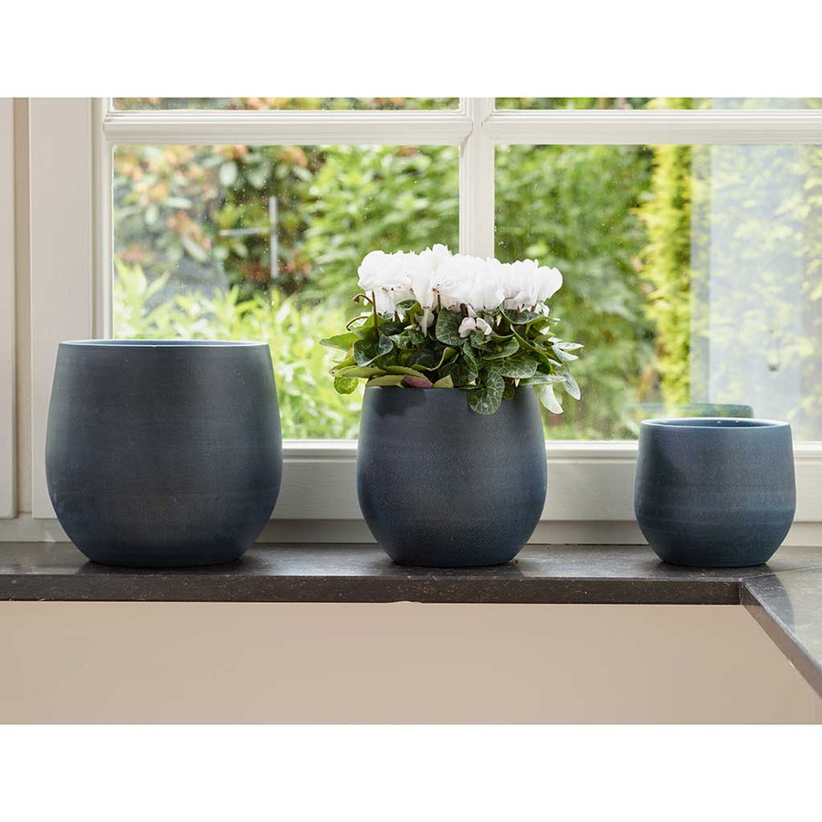 Esra Plant Pot - Dark Blue