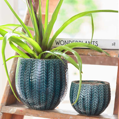 Faja Plant Pot - Dark Blue