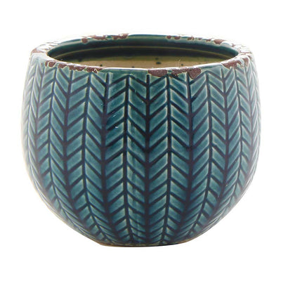 Faja Plant Pot - Dark Blue - Small
