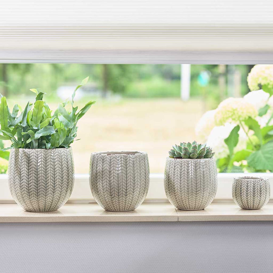 Faja Plant Pot - Sage Grey