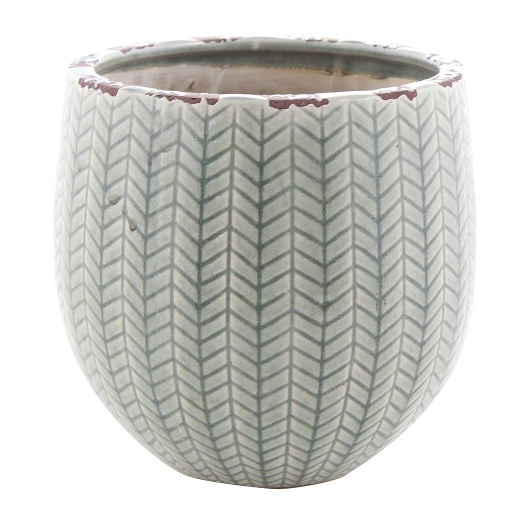 Faja Plant Pot - Sage Grey - Medium Large