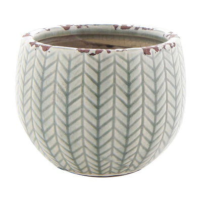 Faja Plant Pot - Sage Grey - Small