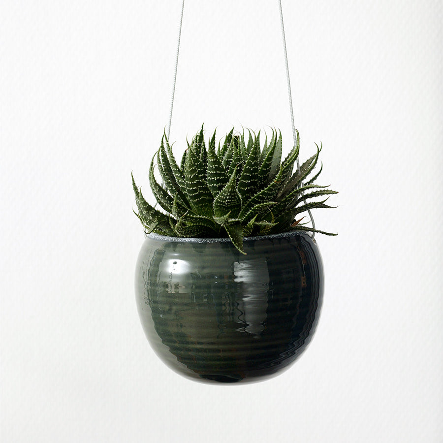 Flor Hanging Plant Pot - Pine Green