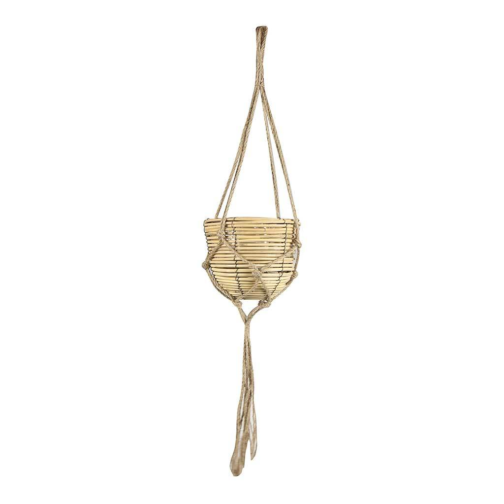 Gemma Hanging Plant Basket - Natural - Small