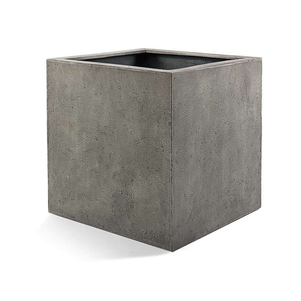 Grigio Cube Planter - Natural Concrete