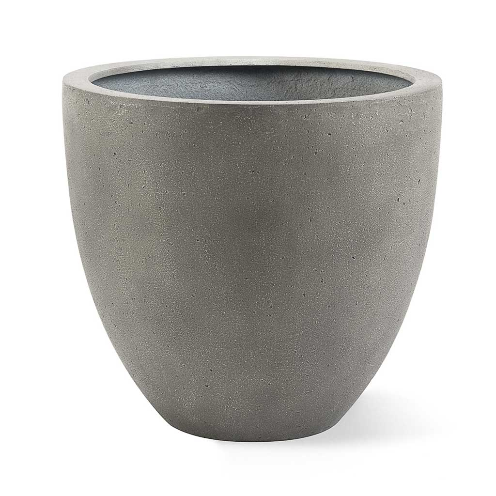 Grigio Egg Pot Planter - Natural Concrete