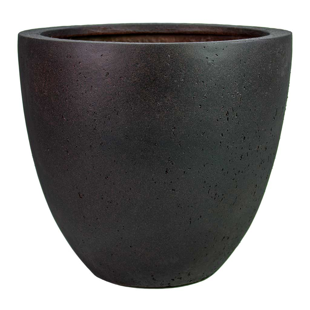 Grigio Egg Pot Planter - Rusty Iron Concrete
