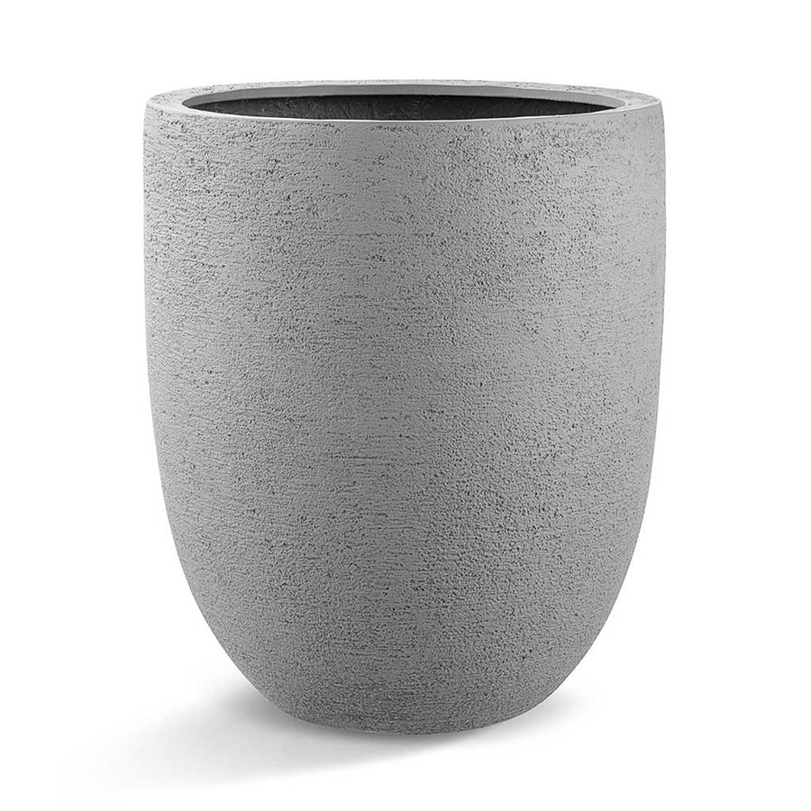 Struttura Tall Egg Pot Planter - Structured Light Grey