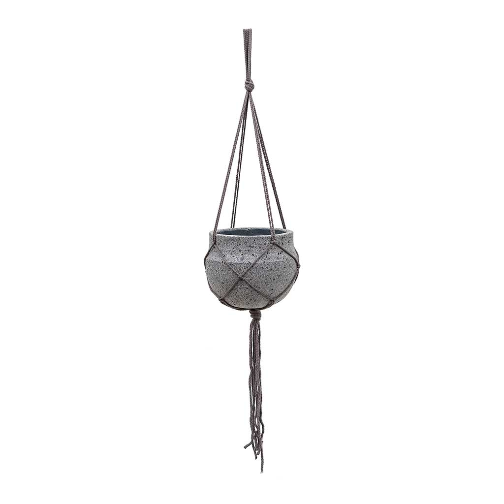 Hans Hanging Plant Pot - Laterite Grey