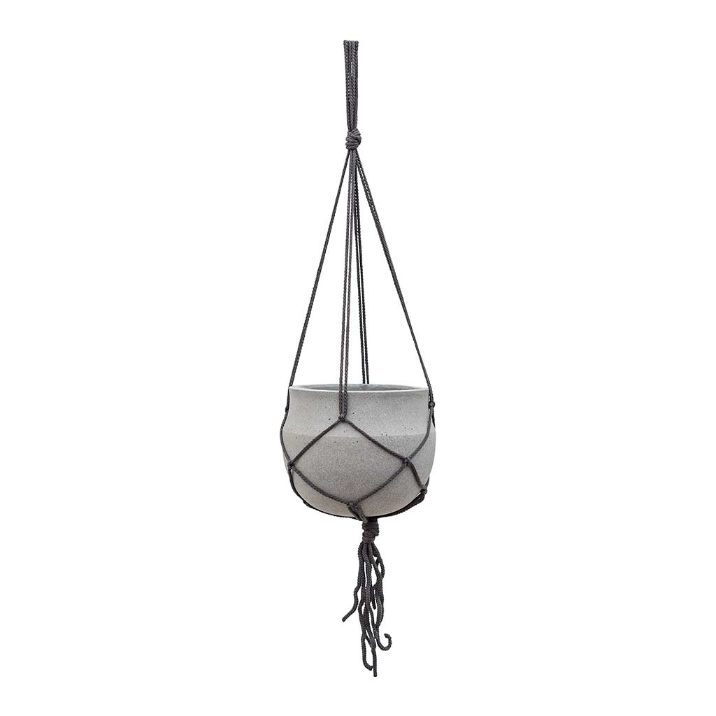 Hans Hanging Plant Pot - Light Grey