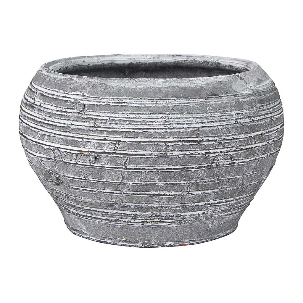 Ina Plant Pot - Grey Black