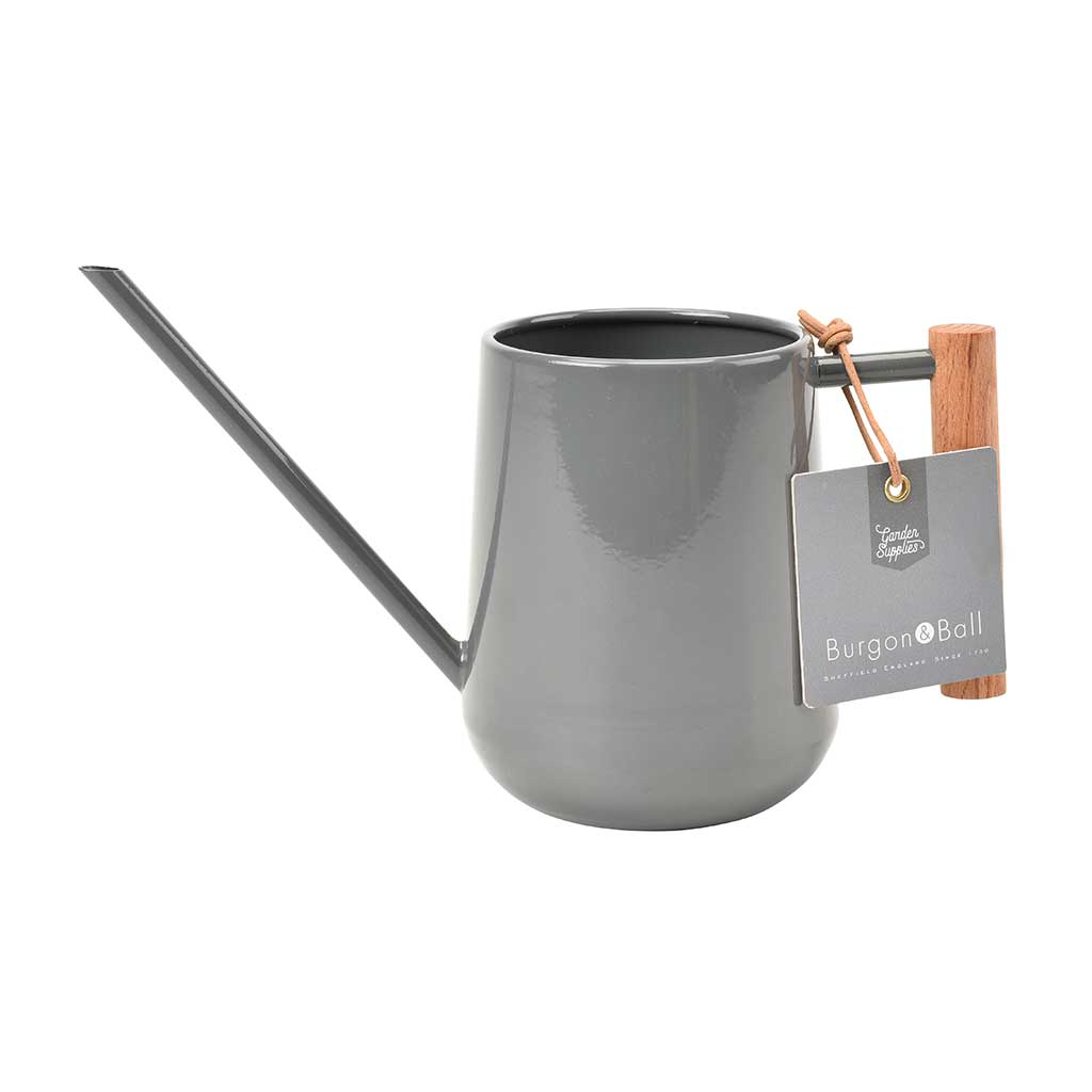 Indoor Watering Can 0.7L - Charcoal with Beech Handle