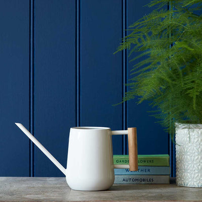 Indoor Watering Can 0.7L - Stone with Beech Handle