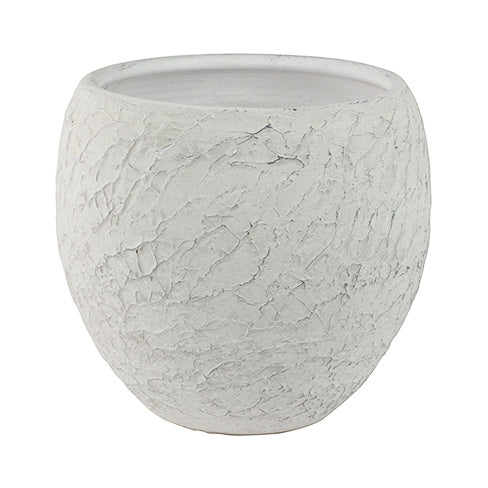 Indy Plant Pot - White 17cm, 19cm