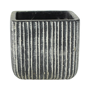 Jari Square Planter - Anthracite 14cm, 17cm, 21cm